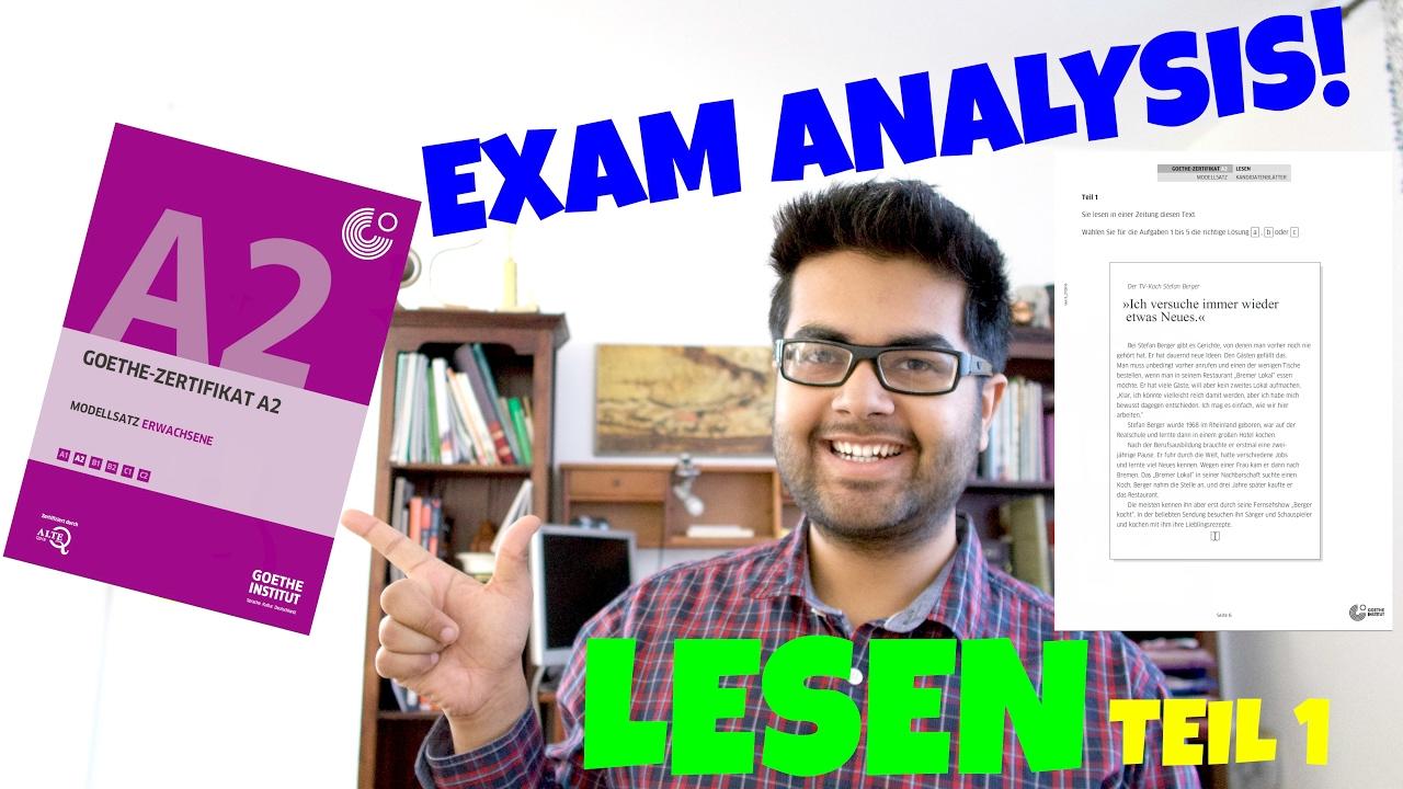 New Goethe Zertifikat A2 Exam Analysis And Tips 14 Lesen Teil