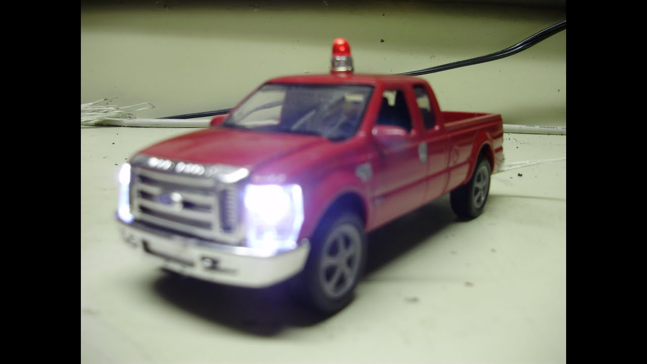 Custom 1 43 Scale O Gauge 2004 Ford F 250 Super Duty Fire