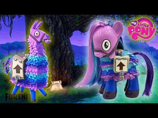 Fortnite Loot Llama My Little Pony Pinata Custom Tutorial Diy