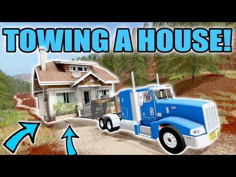 FARMING SIMULATOR 2017 | TOWING A HOUSE UP THE ROCKY MOUNTAINS | NEW PETERBILT!