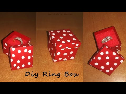How to make ring box | diy easy and simple small box | Cardpaper box