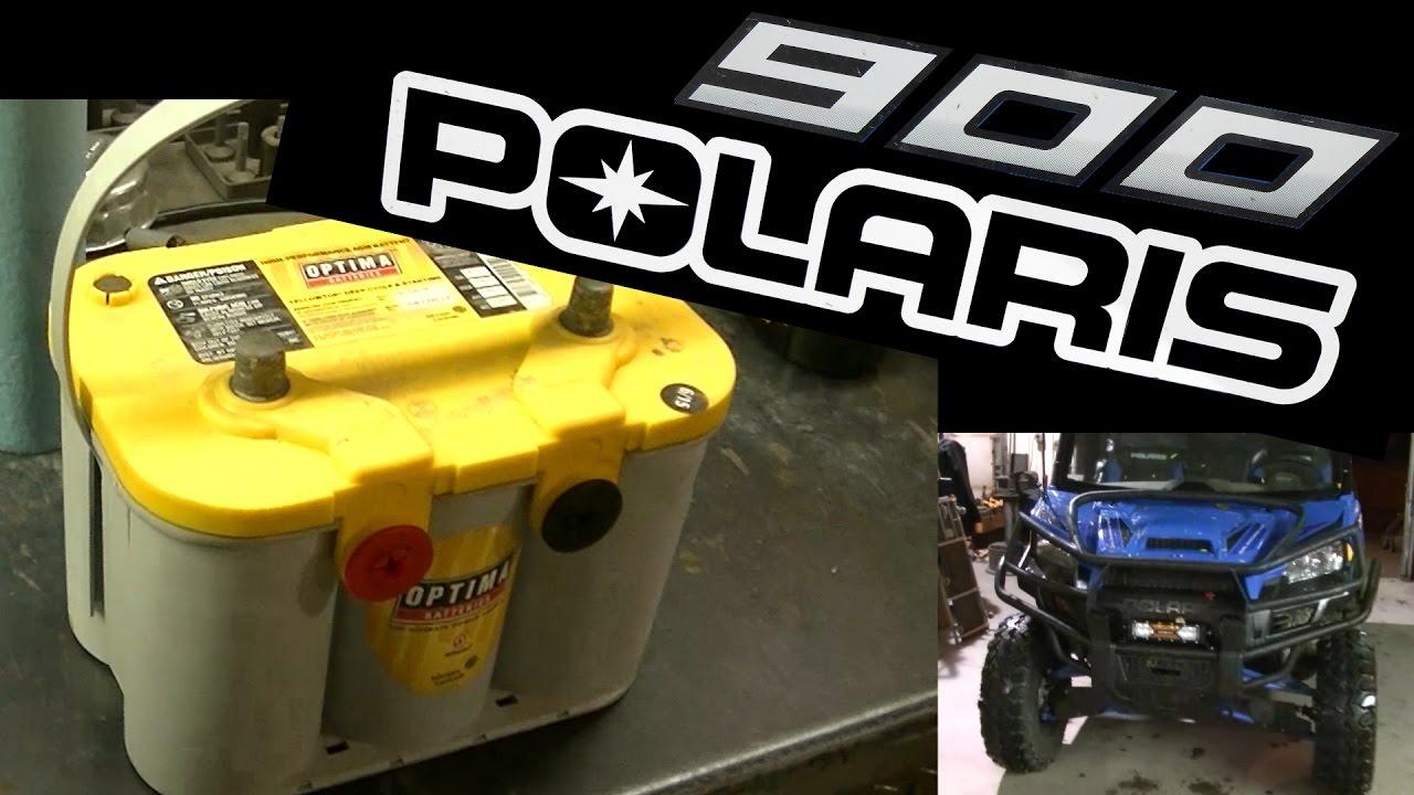 medium resolution of polaris ranger 900 optima battery install