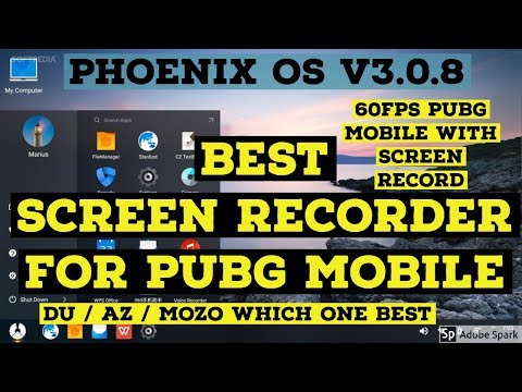 PHOENIX OS | BEST SCREEN RECORDER FOR PUBG MOBILE | RECORD
