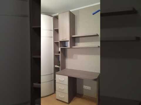 Детская мебель под заказ в Минске. Спальня для подростка с радиусным шкафом - Минск, ноябрь 2019 г.
