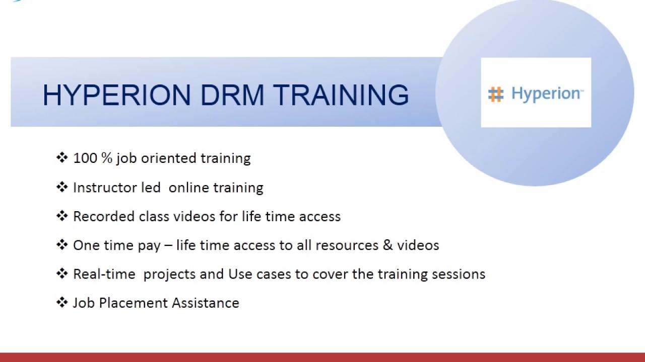 Hyperion DRM Online Training - xltutors com