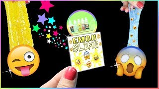 DIY Miniature Slime Kits! How To Make Emoji Slime DIYs - Tiny Slime Kits Tested!