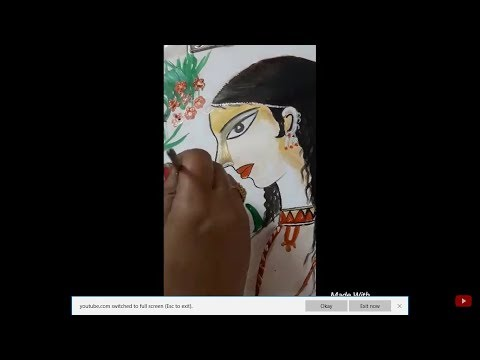|| Indian Folk Art || Full tutorial| Folk Art of LADY