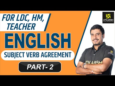 English Grammer  Subject Verb Agreement  Part2   Lal Singh Kaviya