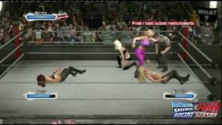 Smackdown vs Raw 2009 (Online season): Maria vs Natalya vs Mccool vs Maryse part1