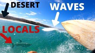 SURFING ALONE IN THE DESERT   SOUTH AUSTRALIA