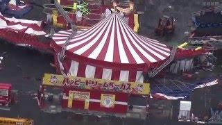 和歌山市毛見のレジャー施設「和歌山マリーナシティ」で11日午前2時ごろ、駐車場に設営されたサーカス用テントが倒れているのを関係者が...