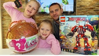 2,000 Subscriber FREE Giveaway LEGO Ninjago , LUSH and LOL Big Surprise Prizes   Hannah and Jessica