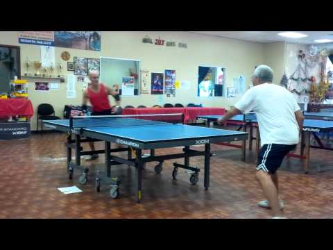 Adoni Maropis and Carlos Ortega Liha Sand Paper Ping Pong training @ Mary's 10/19/13