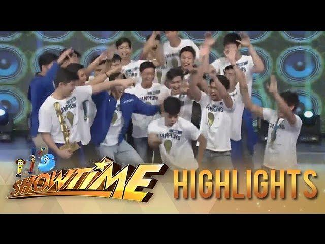 "It's Showtime Cash-ya: Ateneo Blue Eaglets take on the "" Taga Saan Ka"" challenge"