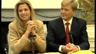 Maxima en Prins Willem   Interview JeugdJournaal
