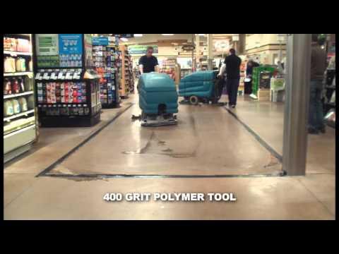 Diamabrush supermarket polishing timelapse