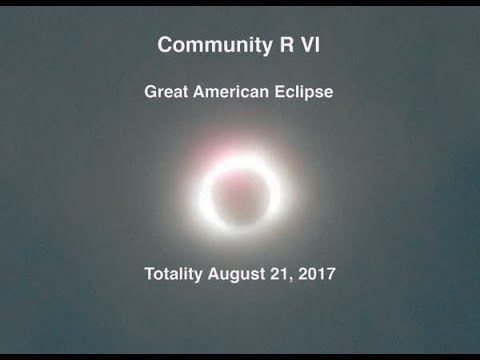 Community R VI Great American Eclipse Totality August 21