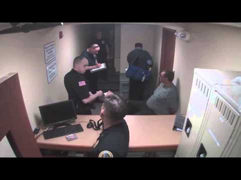 Booking footage released from the Saratoga Springs Police Department