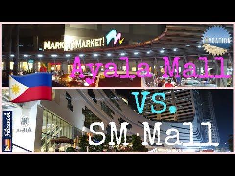 TOP MALLS IN MANILA PHILIPPINES | AYALA MARKET MARKET! vs. SM AURA PREMIER TRAVEL VLOG