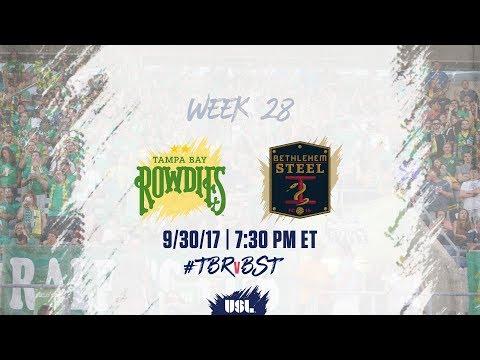 USL LIVE - Tampa Bay Rowdies vs Bethlehem Steel FC 9/30/17