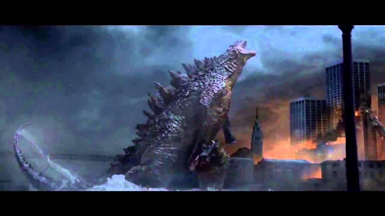 Godzilla 2014 Victory Roar Extended Scene YouTube