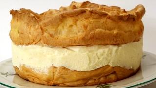 كريم باي كيك بعجينة الشو Karpatka - Cream Pie Cake