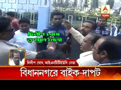 Gang of bikers allegedly roam freely during municipal poll at bidhannagar.
