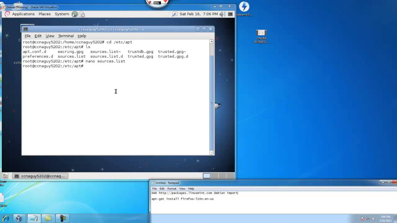 How to install Mozilla Firefox in Debian Linux from Command Line using  apt-get