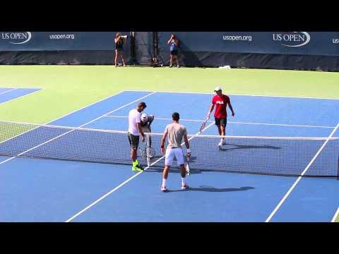 Djokovic Lajovic Troicki and Krajinovic Us Open
