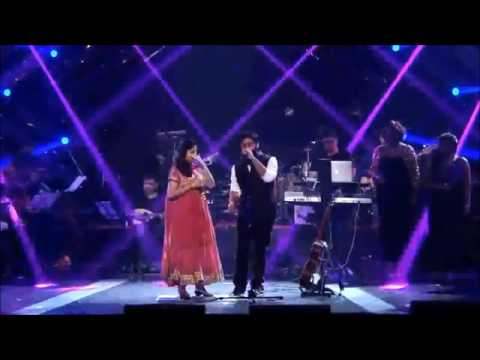 Arijit singh with his real sister singing live