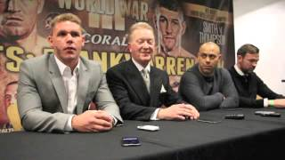 ANDY LEE v BILLY JOE SAUNDERS - PRESS CONFERENCE @ MANCHESTER ARENA / DECEMBER 19th 2015
