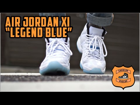 newest 487a1 a4c77 ... free shipping air jordan 11 legend blue restock goodcop badcop sneakers  youtube 02cd2 dcc6b