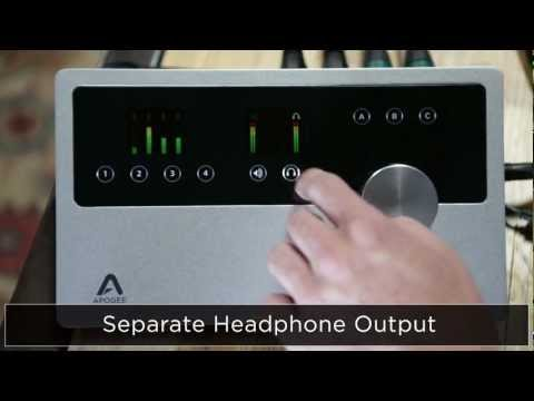 Apogee Quartet - 4 IN x 8 OUT audio interface and control center for Mac
