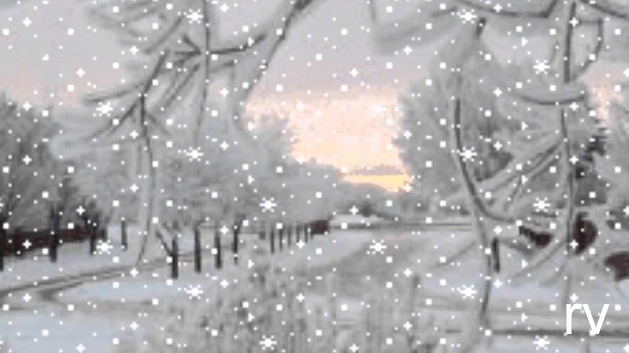 как падает снег