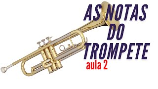As notas musicais no trompete - aula 2