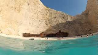Plaja Navagio si Epava contrabadinstilor - insula Zakynthos - Grecia