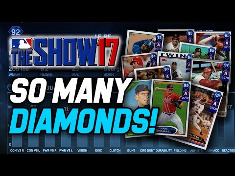 AWESOME NEW DIAMONDS! NEW EXCHANGE MISSIONS! | MLB The Show 17 Diamond Dynasty
