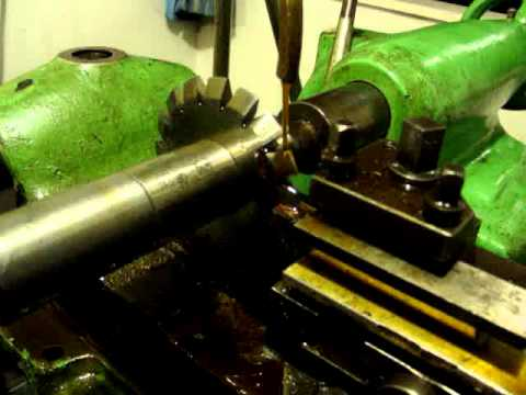 Form relieving  a HSS milling cutter in my backing off lathe