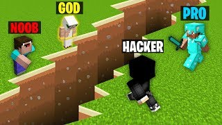 Minecraft Battle: NOOB vs PRO vs HACKER vs GOD : EARTHQUAKE Challenge in Minecraft