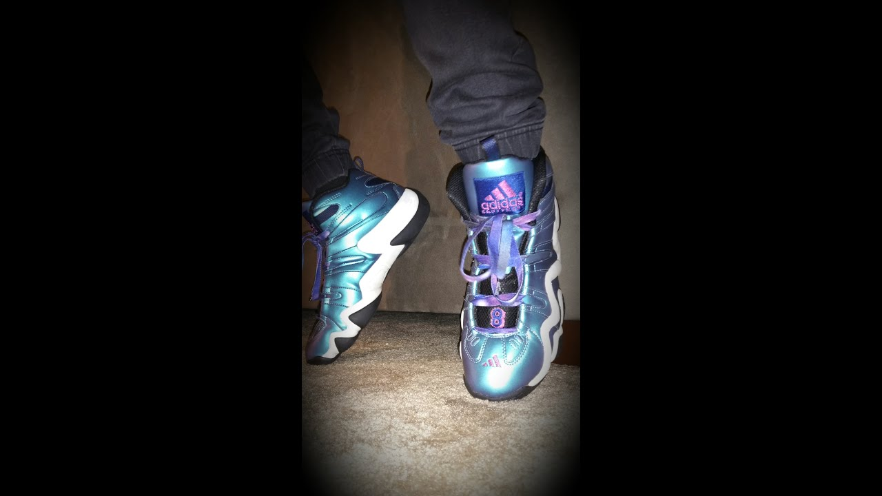 outlet store 53e45 c849b Adidas Crazy 8 Iridescent On Feet