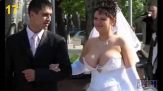 пьяные невесты !  сымые смешные приколы свадьбы ! Подборка