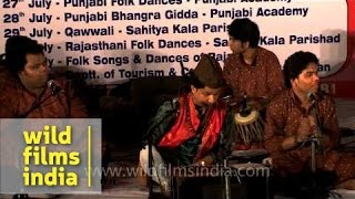 Musical performance by Yousuf Khan Nizami and his troupe