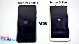 Asus Zenfone Max Pro M1 vs Redmi Note 5 Pro Speed and Camera Comparison