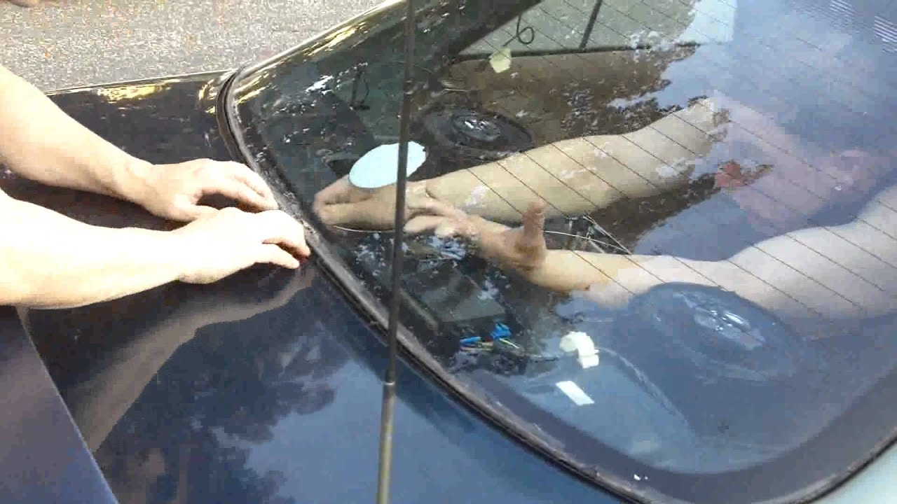 How to take out a Cars Window on a JUNK CAR, yourself - YouTube