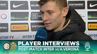 INTER 2-1 HELLAS VERONA | BARELLA + BASTONI + LAZARO EXCLUSIVE INTERVIEWS [SUB ENG]