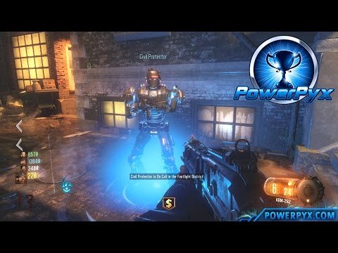 Call of Duty: Black Ops 3 Zombies - How to Summon Civil Protector & Fuse Locations (Beat CoP Trophy)