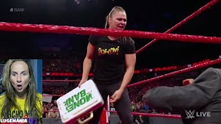 WWE Raw 6/18/18 Ronda Rousey goes BANANAS on Alexa and Angle