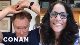 Julia Louis-Dreyfus Gives Conan Some Quarantine Beauty Tips - CONAN On TBS