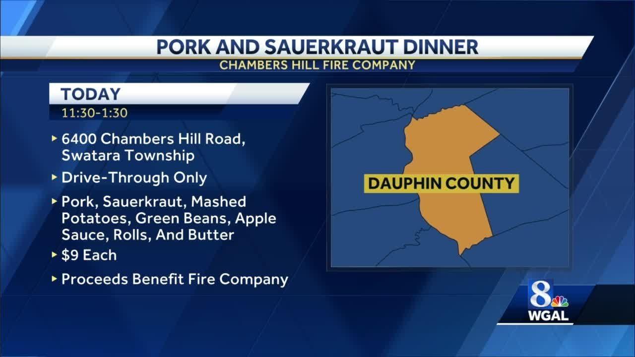 New Year's Day pork and sauerkraut fire company drive-thru ...