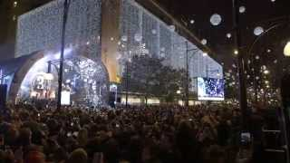 Oxford Street Christmas Lights switch on 2014